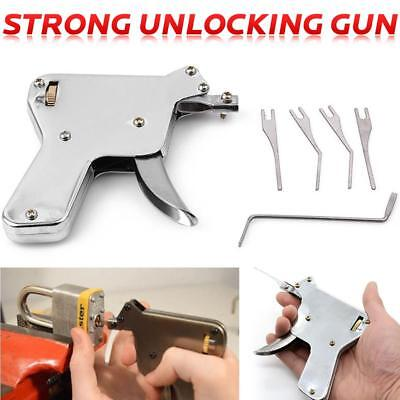 5 in1 Strong Steel Lock Pick Gun Kit Door Repair Opener Tool Picking Key Tools
