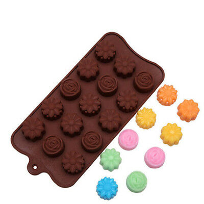 Romance DIY Rose Silicone Mold For Mini Cake Soap Candy Chocolate Ice Tray N7