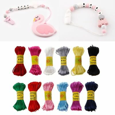 10m Satin Nylon Multi-Color Cord Solid Rope Jewelry Baby Necklace Pendant Making