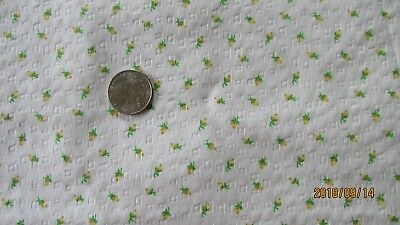 Cotton Fabric Seersucker Tiny Yellow Roses