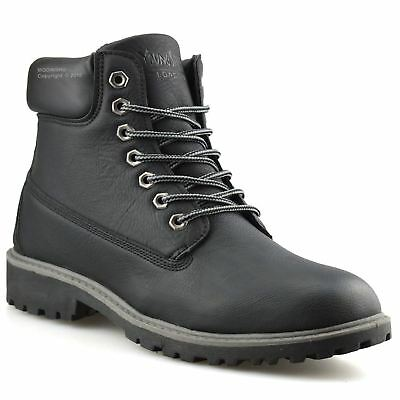 Mens New Walking Hiking Military Army Combat Work Ankle Biker Boots Shoes Size