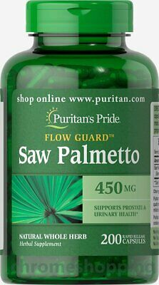Puritan's Pride Saw Palmetto 450Mg 200 Capsules Mens Urinary/prostate Health