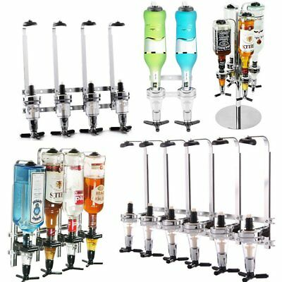 2/4/6 Bottle Wall Mounted & Rotary Stand Drinks Optic Dispenser Party Bar Butler