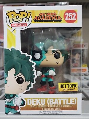 Funko Pop My Hero Academia: Deku Battle #252. Hot Topic Ready To Ship Fast Free