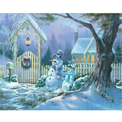 5D DIY Diamond Painting Full Drill Embroidery Cross Stitch Kit Christmas Snowman