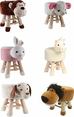 Kids Children Animal Design Chair Seat Footstool Pouffe Fun Home Nursery