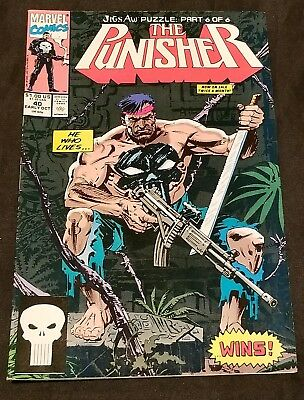 The Punisher Jigsaw Puzzle Part 6 of 6 #40 Mint Unread Condition