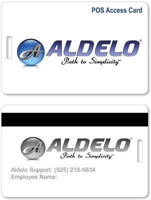 Aldelo for Restaurant Employee Access Cards pack of 5 for Aldelo POS  NEW