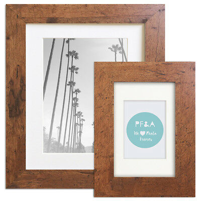 Traditional Photo Frame Rustic Poster Brown Dark Wood Effect 6x4 10x8 A4 A3 UK