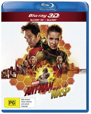 Ant-Man and the Wasp (3D Blu-ray/Blu-ray)  - BLU-RAY - NEW Region B