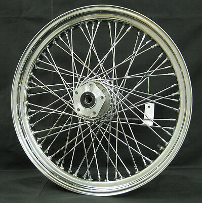 "Ultima Chrome 60 Spoke 21""x 3.25"" Front Wheel for Harley Softail & FXDWG 84'-99'"