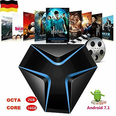 Iron 4K Android 7.1 WiFi TV BOX Amlogic S905X Quad Core 2+16GB Smart TV Box EG