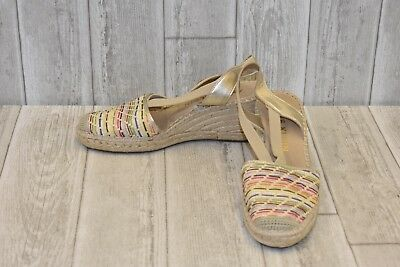 d0b6a85fe8d7 Anne Klein Abbey Espadrille Wedge Sandal - Women s Size 9.5M - Multicolor