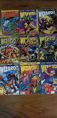 Wizard the Guide to Comics 1993 18,19,20,22,23,25,26,27,28