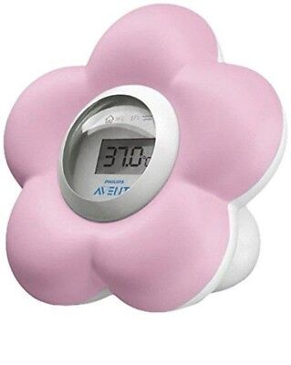 Philips Avent SCH550 / 21 Thermometer Bath Room Pink White Color