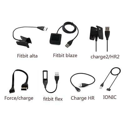 USB Charger Charging Cable For Fitbit Charge2/HR2/IONIC/Flex/Alta Smart Watch