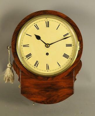 8 inch Fusee Mahogany Dial School Clock - Camera Kuss , London.