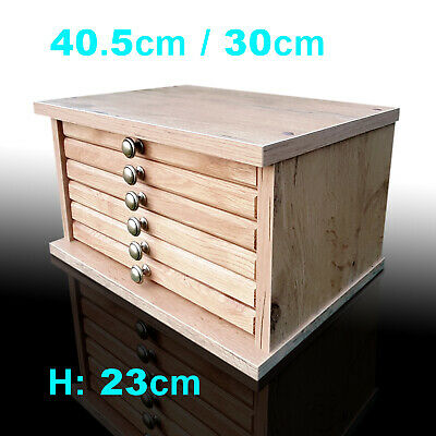 Oak Colour Chest Coin Tray Collection CABINET for 6 Trays- Coins Medals (ANNA-6)