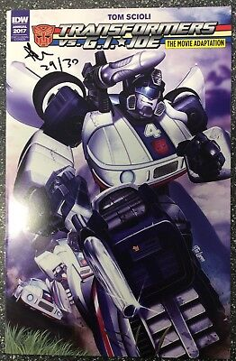 Transformers Vs GI Joe: The Movie Adaption Annual (2017) AOD Collectibles SIGNED