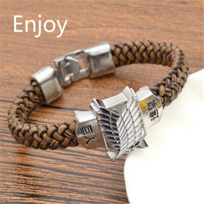 Attack On Titan Bracelet Janpanese Anime Shingeki No Kyojin Cosplay Unisex Wrist