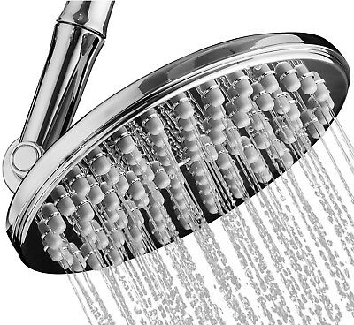 "Shower Head High Pressure Rainfall 9.5"" with Adjustable Extension Arm & 109 Jets"