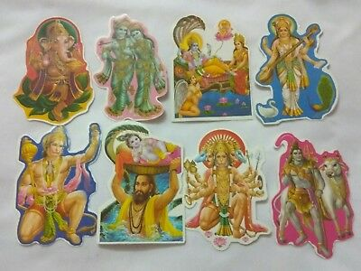 10 Hindu God Goddess small Stickers for home temple use gift prayers meditation