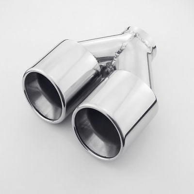 """DT-25100 STAINLESS EXHAUST TIP TRIPLE OVAL ROUND 2.5/"""" INLET 7.5 x 3.5/"""" OUT 8/"""" L"""