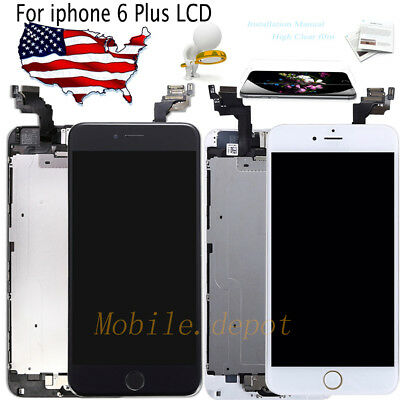 OEM iPhone 6 Plus LCD Touch Screen Replacement Assembly Digitizer+Button+Camera