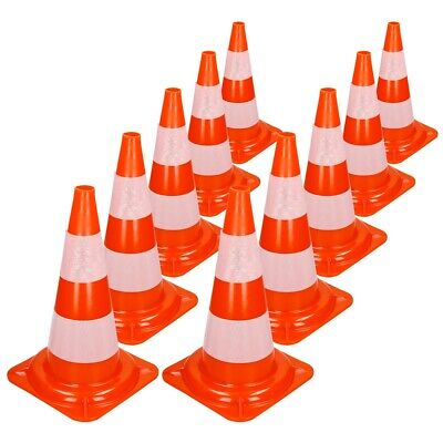 Warnkegel Warnleitkegel Verkehrsleitkegel 10er Pack Pylon Sicherheit 50 cm Kegel