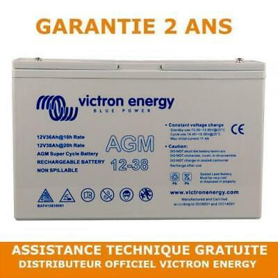 Victron Energy 12V 38Ah Batterie AGM Super Cycle Loisir Mobilité Golf
