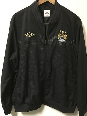 9bd4a8046 UMBRO MANCHESTER CITY MCFC Men s Full Zip Embroidered Jacket Size XL Black