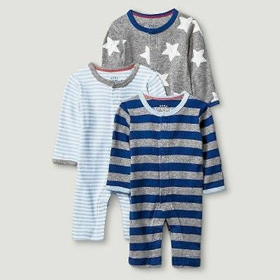 Wholesale Case of 12 Sleep N' Play Baby Boy Set of 3 Brand New Overstock