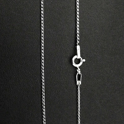 """Sterling Silver Bali SS Rope Chain Necklace-Oxidized-1.2 mm THK- 16"""" 18' 20"""" 22"""""""