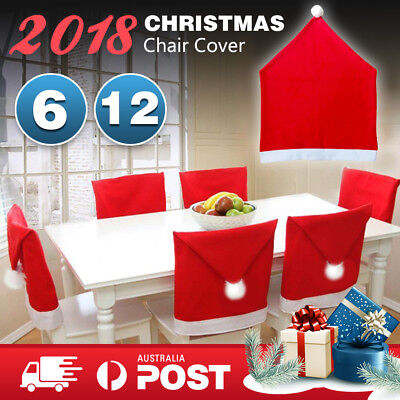Christmas Chair Covers Dinner Table Santa Hat Xmas Decorations Party Gift 2018