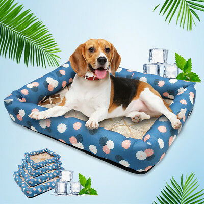 Dog Cat Sleeping Bed Mat For Summer Pet Puppy Waterproof Cool Soft Cushion S-XL