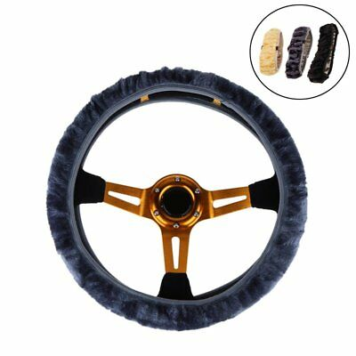 38cm Soft Plush Stretch Steering Wheel Cover Warm Winter Breathable Comfortable