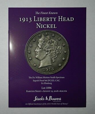New STACK'S BOWERS The Finest Known 1913 Liberty Head Nickel Catalog 2018