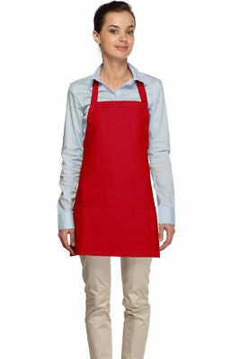 200 Daystar Three Pocket Bib Apron Adj Neck Made in the USA