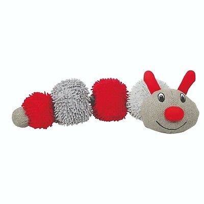 Rosewood Festive Maxi Rope Caterpillar Christmas Dog Toy, Plush Stocking Filler