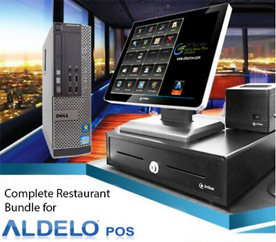 POS RESTAURANT BAKERY BAR COMPLETE POS SYSTEM Station Win 7 for Aldelo POS NEW