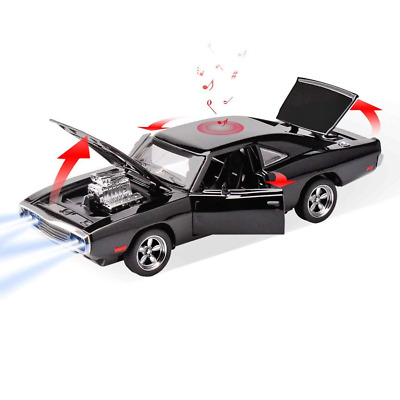 Toy Cars,1 32 Diecast Model Dodge Alloy car Wite LED Light Box Music Cars NEW US