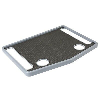 "Support Plus Walker Tray Table Accessory with Non-Slip Mat/Cup Holders (21""x16"")"