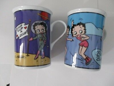 Betty Boop Porcelain Collector Mugs Complete Set Of 12