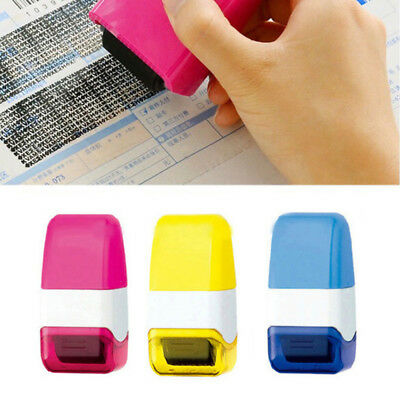 1PC Mini Guard Your ID SelfInking Stamp Messy Code Security Office Roller Stamps