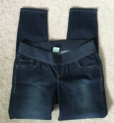 Old Navy Maternity Jegging Jeans Size 12 Low Rise Knit Panel Fall EUC