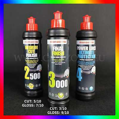 MENZERNA Polierset: 2500+3000+Power Lock Ultimate Protection (3x 250ml) DHL EXP