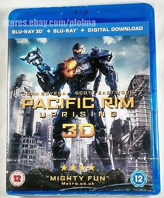 PACIFIC RIM UPRISING Brand New 3D (and 2D) Blu-Ray 2018 Movie Region-Free Import