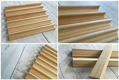 Scrabble Racks Holder For Letters Numbers Replacement Tiles Stand Crafts Wooden