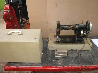 VINTAGE WHITE ROTARY 40 Eletric Sewing Machine With Cabinet New 1927 White Rotary Sewing Machine