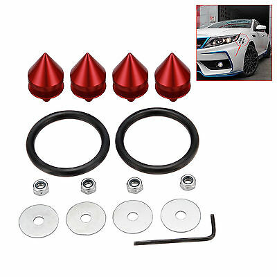 RED QUICK KIT Release ALUMINUM QUICK RELEASE FASTENERS KIT FIT FOR BUMPER /& TRUN